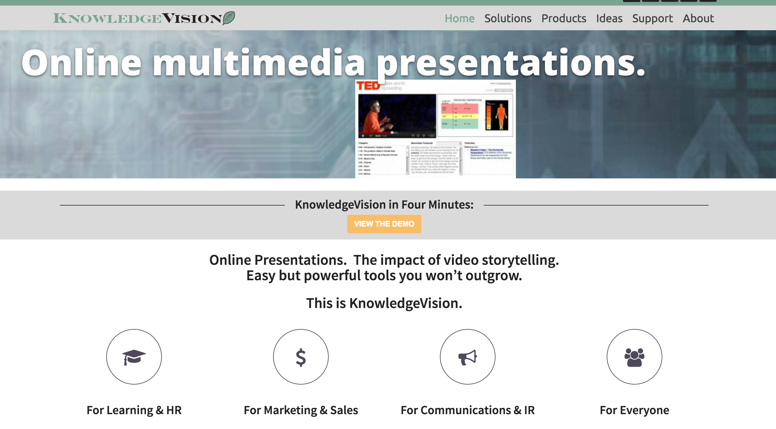 KnowledgeVision presentation tool