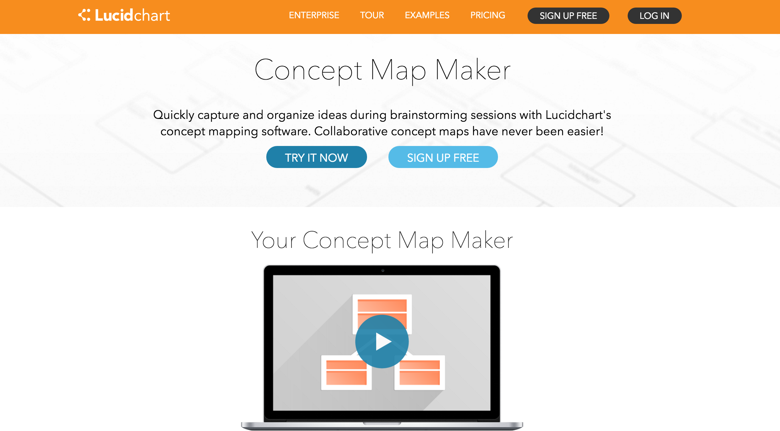 Lucidchart concept mapping and brainstorming software